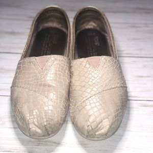 Toms Leather Snake Print Sneakers